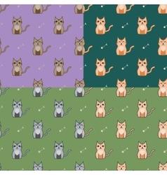 Cute cartoon cats set vector image