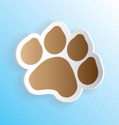 Dog Paw Print Sticker Peeling vector image vector image