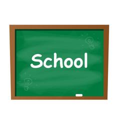 empty blank school green chalkboard isolated vector image vector image