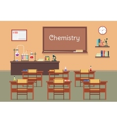 Flat of chemistry lassroom at vector