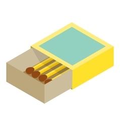 Matchbox isometric 3d icon vector image