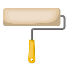 paint roller icon colorful silhouette with half vector image