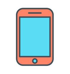 phone line icon linear symbol vector image vector image