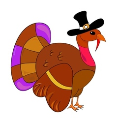 Turkey clipart for thanksgiving day vector image