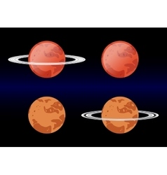Variants Mars images eps 10 vector image vector image