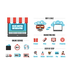 256online shop infographic vector image