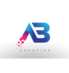 Ab letter design with creative dots bubble vector