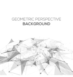 Abstract polygonal perspective low poly background vector image