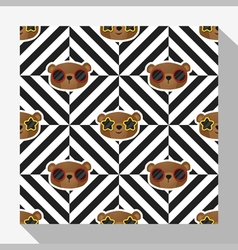 Animal seamless pattern collection with bear 7 vector image