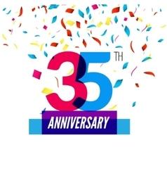 Anniversary design 25th icon anniversary vector