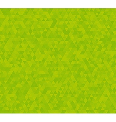background with green triangles vector image