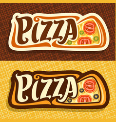 banners for pizza vector image