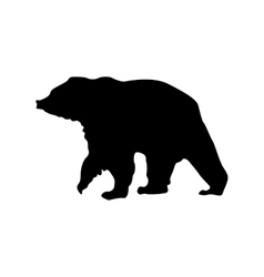 Bear black silhouette vector