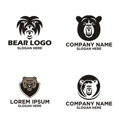 bear logo design vector image