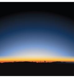 Beautiful majestic sunrise vector