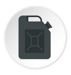 Black jerrycan icon circle vector