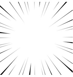 black radial lines for comics superhero action vector image