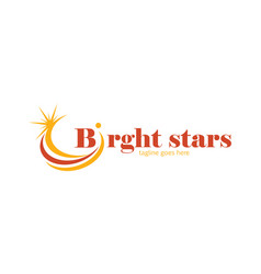 bright stars logo vector image