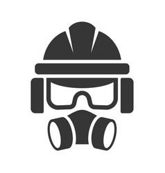 builder safety helmet protection glasses vector image