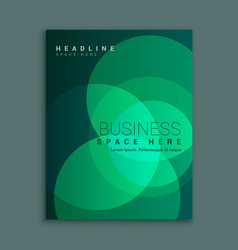 business magazine cover with abstract green vector image
