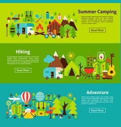 camping web horizontal banners vector image