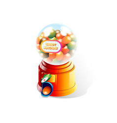 candy machine in white background vector image