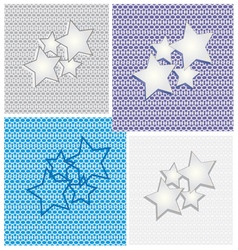 Collection of star backgrounds vector image