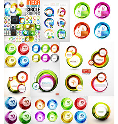 collection of swirls and circles abstract banners vector image