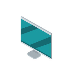 computer monitor device technology isometric vector image
