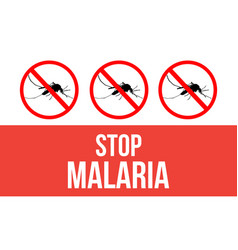 Concept stop malaria background vector