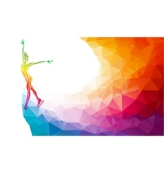 Creative silhouette of ice skating girl on vector image