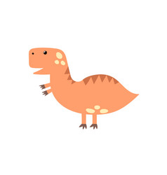 cute tyrannosaurus rex in cartoon style isolated vector image