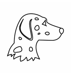 Dalmatians dog icon outline style vector image