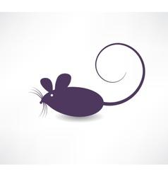 Dark rat icon vector image