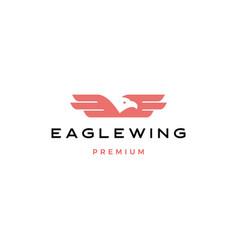 eagle wing bird logo icon vector image