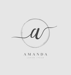 elegant initial letter type a logo vector image