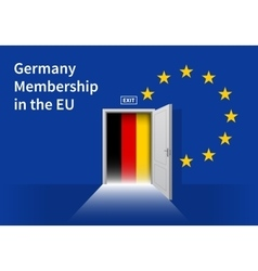 European Union flag wall with Germany flag door vector