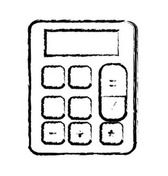 figure financial calculator to accounting business vector image