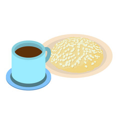 Good morning icon isometric style vector