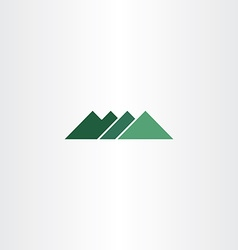 green sign mountain logo icon element vector image