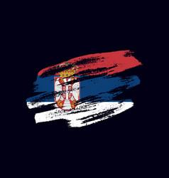 Grunge textured serbian flag vector