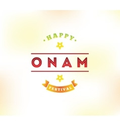 Happy onam festival vector