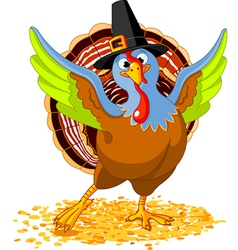 Happy thanksgiving turkey vector