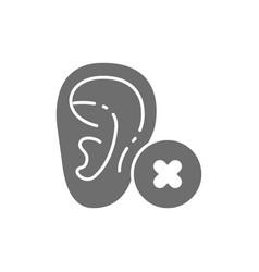 Hearing loss bad test gray icon vector