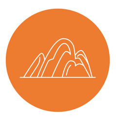 hill icon in thin line style vector image