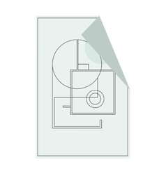 House floor plan icon for ui or app vector image vector image