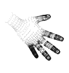 Human arm human hand model hand scanning 3d vector