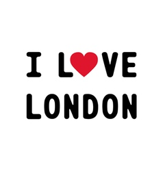 I lOVE LONDON1 vector image
