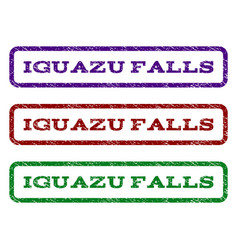 Iguazu falls watermark stamp vector