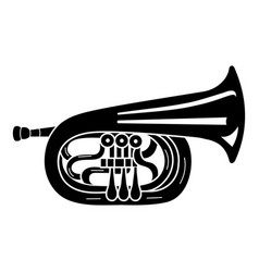 Jazz trumpet icon simple style vector
